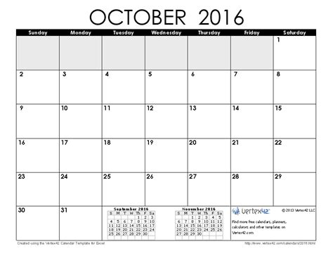 printable calendar usa 2016 october 2016 calendar with usa holidays