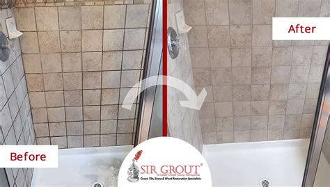 Removing Mould From Shower Grout by Amazing Mold Removal During A Grout Sealing Service Gave A New Look To This Bathroom In Chester