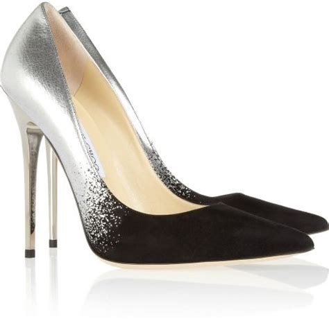 Guess Charlote Silverblack jimmy choo anouk degrad 233 metallic leather and suede pumps