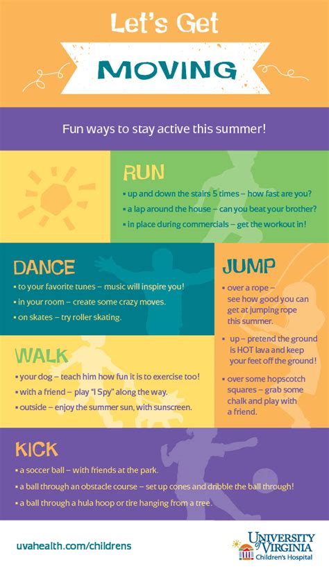 7 To Keep Your Children Active by 15 Ways To Keep Active This Summer Infographic
