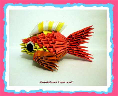 How To Make A 3d Origami Fish - 3d origami fish by rajlakshmi on deviantart