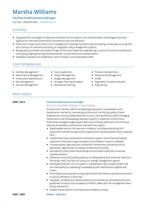 project manager cv exles and template