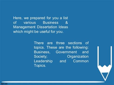 dissertation topics for business management business management dissertation ideas