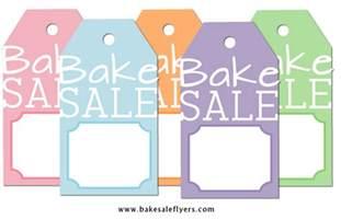 free printable bake sale tags bake sale flyers free