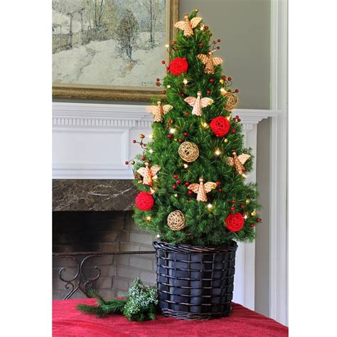 live pre decorated angel christmas tree christmas table