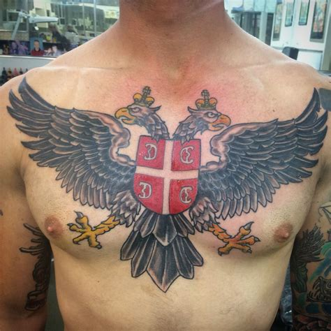 serbian tattoo designs serbia eagle tattoos by davin