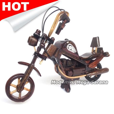 Miniatur Motor Harley Davidson Souvernir Khas Jogja toko mainan kayu yogyakarta mainan oliv