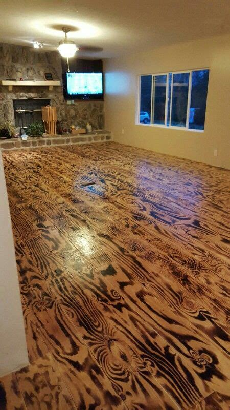 Hubby n I made these floors..out of plywood n a torch