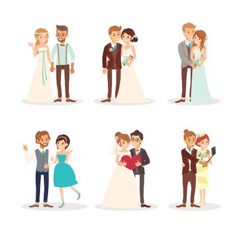 clipart sposi carino sposi sposi illustrazione vettoriale cartone