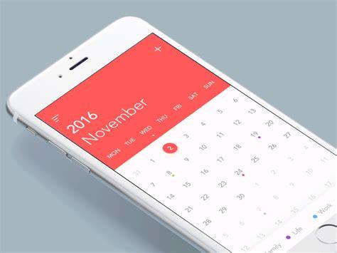 calendar design for mac top 5 mobile interaction designs of november 2016