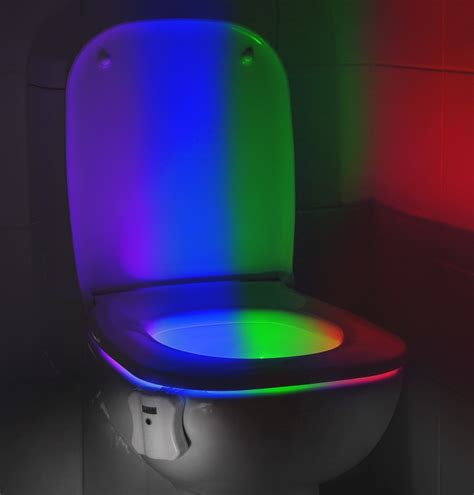 auraglow led motion activated toilet bowl light