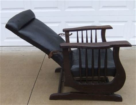 antique mission recliner chairs antique morris arts crafts mission black leather recliner