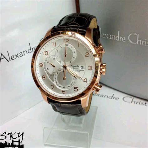 Jam Tangan Alexandre Christke Ac6448 Original Chrono On Black Rosegold jam tangan alexandre christie 6208 swasa