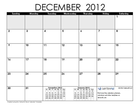 printable december calendar 2012 with holidays december is critical planning month for savings bond