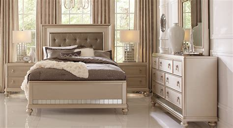 bed room furniture set sofia vergara silver 5 pc bedroom