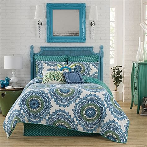 teal queen bedding sets buy anthology bungalow reversible full queen comforter
