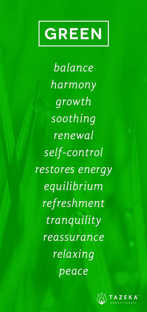 green color psychology http www tazekaaromatherapy