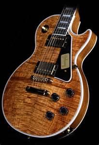 Gibson Custom Shop Les Paul Custom Koa Top Electric Guitar
