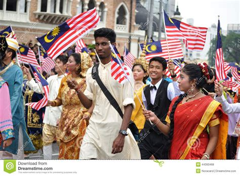 malaysia day malaysia 57th independence day parade editorial stock