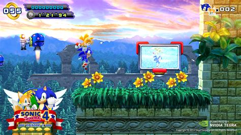 sonic 4 episode 1 apk sonic spins into your tegra mobile device the official nvidia