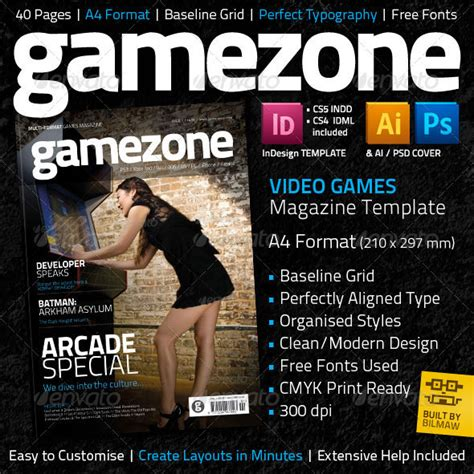 design magazine games 50 indesign psd magazine cover layout templates web