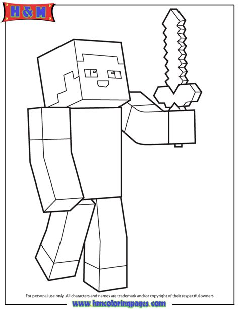 minecraft steve coloring pages free free coloring pages of minecraft