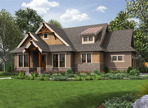 high end house plans high end craftsman getaway 23570jd 1st floor master