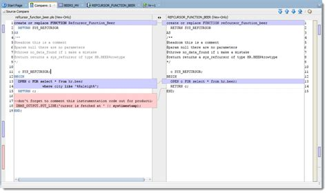 how to compare two in sql how to compare pl sql and sql in oracle sql developer