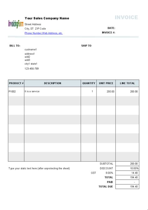free invoice templates online invoices free tax invoice template