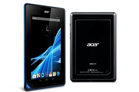 acer android tablet acer launches 16gb iconia b1 android tablet for 139