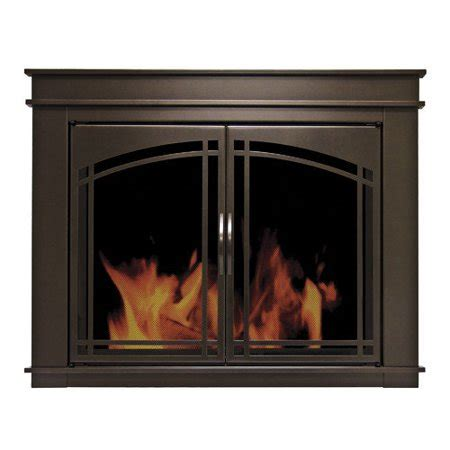 glass fireplace doors walmart pleasant hearth fenwick cabinet style fireplace screen