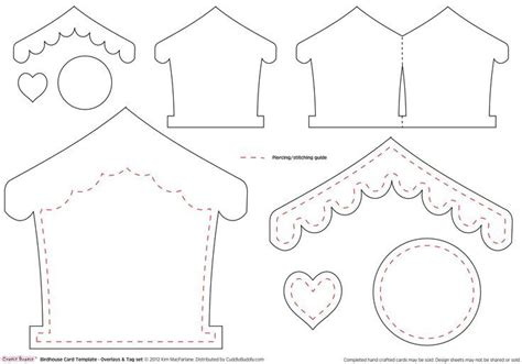 birdhouse template for cards pin by amanda harrod on templates cards and envelopes