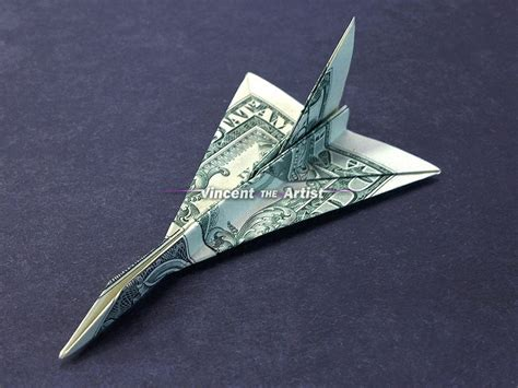 f 16 falcon jet fighter money origami vincent the artist