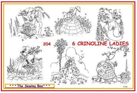 free printable iron on transfer designs 204 6 crinoline lady embroidery transfer patterns ebay