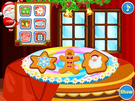 play christmas cookies decoration game  ycom