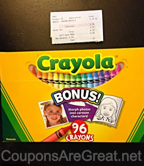 Can I Use My H M Gift Card Online - money saving app how i saved 5 at office depot on my crayola purchase using wrapp