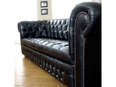Ludlow Black Leather Chesterfield Sofa The Chesterfield Black Chesterfield Sofa
