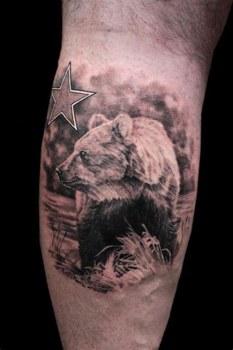 cali bear tattoo california by jhon gutti tattoonow