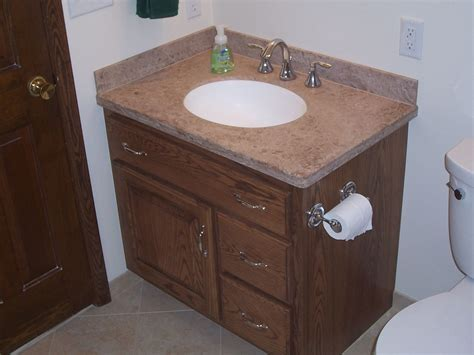 Custom Made Bathroom Vanity Handmade Custom Oak Bathroom Vanity And Linen Cabinet By