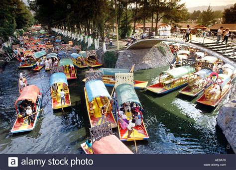 The Floating Gardens Of Xochimilco by Floating Gardens Of Xochimilco Mexico City Mexico Stock