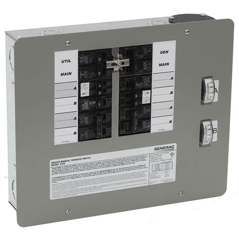 generac 30 7500 watt indoor manual transfer switch for