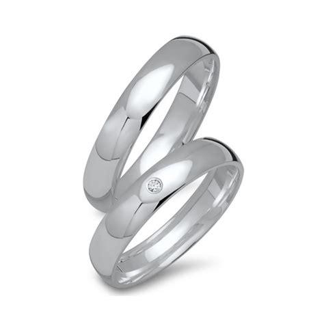 Silber Trauringe by Eheringe Silber Trauringe 925 Gravur Brillant R8538sd