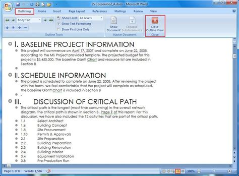 layout options word 2007 microsoft word view tab
