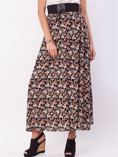 buy new look floral belted maxi skirt for s
