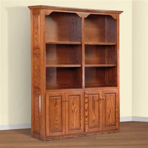 Unfinished Wood Bookcases With Doors Bookcases Ideas Amish Bookcases Furniture In Solid Wood