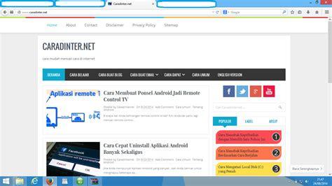 blogger atau blogspot cara memasang atau mengganti template blogger caradinternet