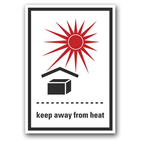 Aufkleber Umverpackung Overpack by Etikett Quot Keep Away From Heat Quot