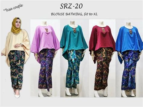 Baju Setelan Batik Kebaya Muslim Pakaian Pesta Set Sorja Dusty Baru gambar 14 padu padan atasan polos kain kondangan kata