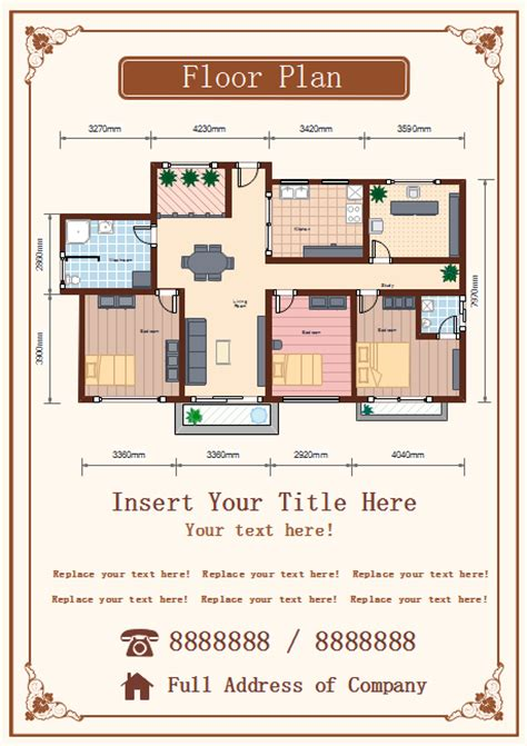 floor plan templates free floor plan flyer free floor plan flyer templates