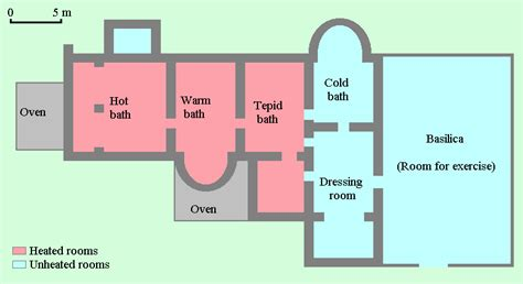 layout of roman bath house roman baths plan google search spa pinterest bath